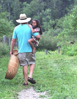 Michael and Gracie going to pick healing herbs for Heartsong Farm Earth Medicine Shares -- photo: Geoff Forester.